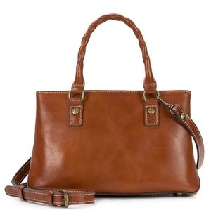 Patricia Nash P18101 Angela Leather Satchel Bag